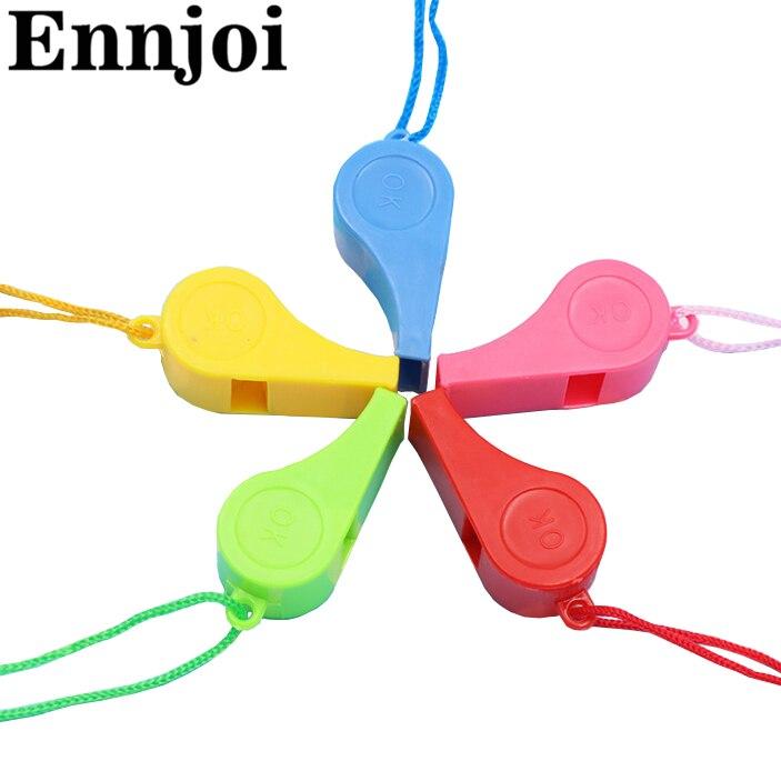 10 Teile/paket Bunte Plastikpfeifen Kinder Spielzeug Für Outdoor-sicherheit Harmlos Hohe Dezibel Knistern Lebensrettende Pfeife