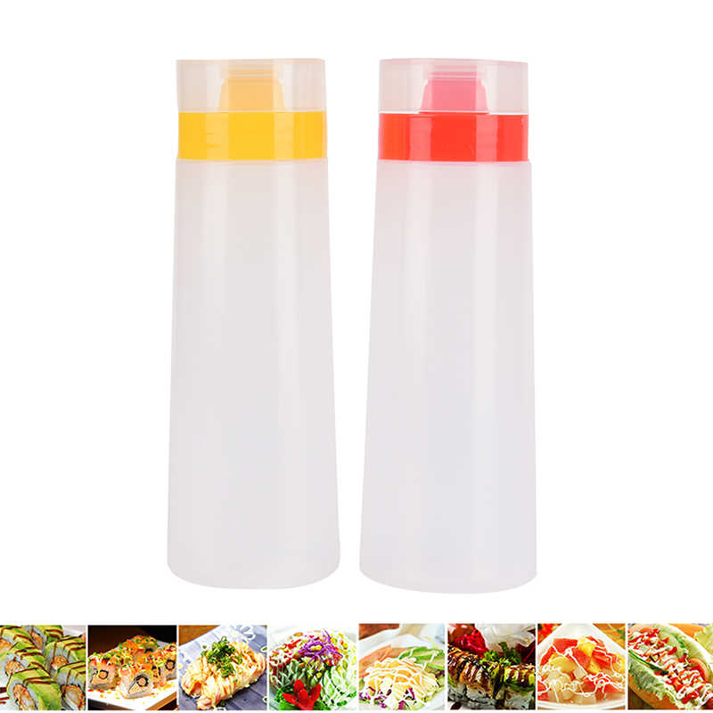 4 Hole Plastic Salad Dressing Squeeze Bottle Condiment Dispenser Ketchup Mustard Kitchen Accessories 17 X 5 Cm 300 Ml Storage Bottles Jars Aliexpress