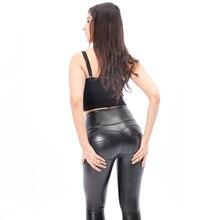 Melody сексуальные леггинсы фитнес Feminina, формирующие брюки с высокой талией, флисовые леггинсы для тренировок из искусственной кожи, штаны для йоги