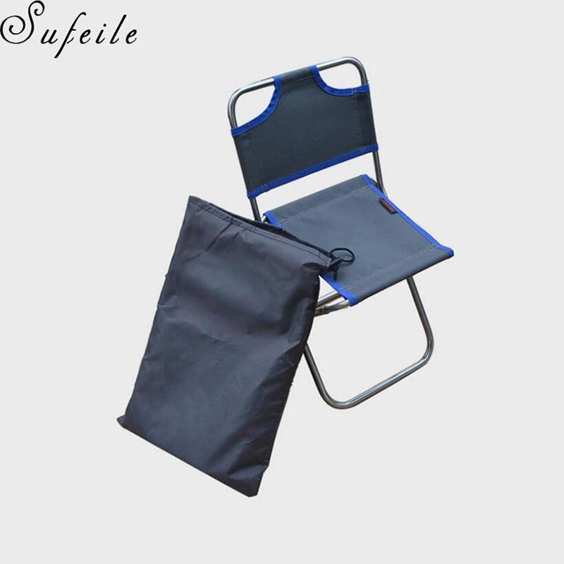 SUFEILE Aluminium Aéronautique En Plein Air Portable Mini De Pêche Chaise Pliante Dossier Chaise De Plage En Plein Air Camping Barbecue Chaises D50 dans Chaises de plage de Meubles