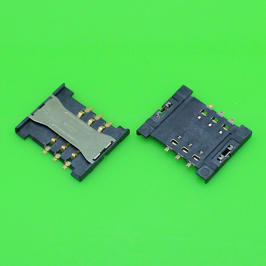 5pcs/lot Brand New For Sony Xperia E dual C1605 C1505 Sim Card Reader Holder Tray Slot Socket Repair Parts Replacement