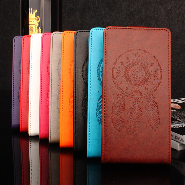 """Vernee Apollo Lite Case Cover 5.5"""" Luxury Windbell Flower Tower Leather vertical flip protective cover For Vernee Apollo Lite"""