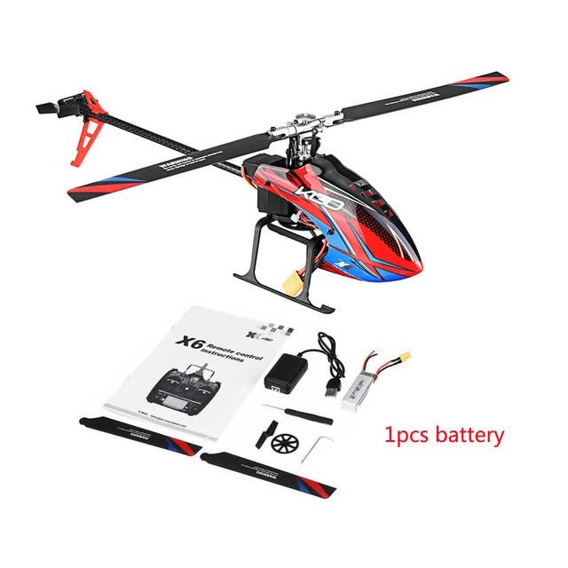 Wltoys helicóptero sin escobillas 3D 6G Flybarless BNF RC, helicóptero súper Compatible con FUTABA K130 B, sin transmisor, XK S FHSSRTF, 2,4G, 6 CANALES