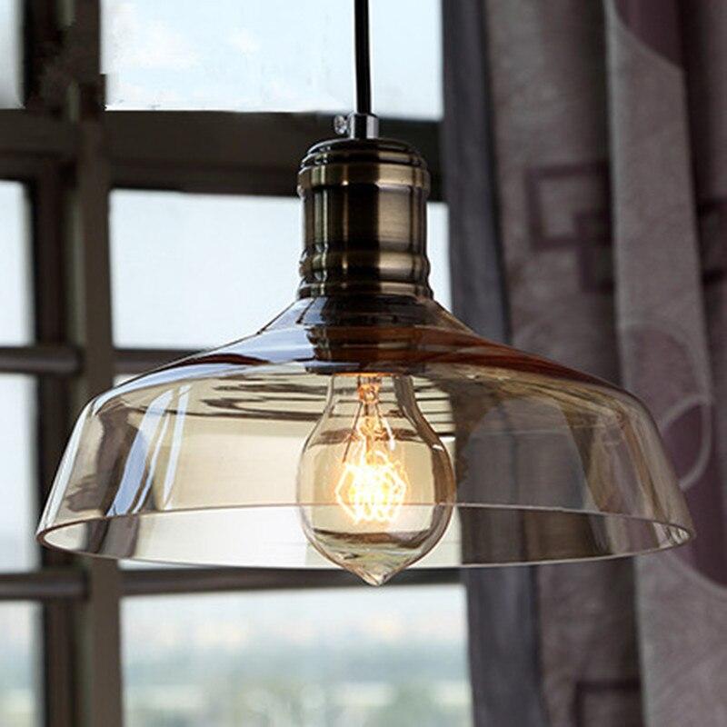 Suspension Vintage abat-jour en verre suspension lampe de salon suspension luminaire Loft industriel luminaire de cuisineSuspension Vintage abat-jour en verre suspension lampe de salon suspension luminaire Loft industriel luminaire de cuisine