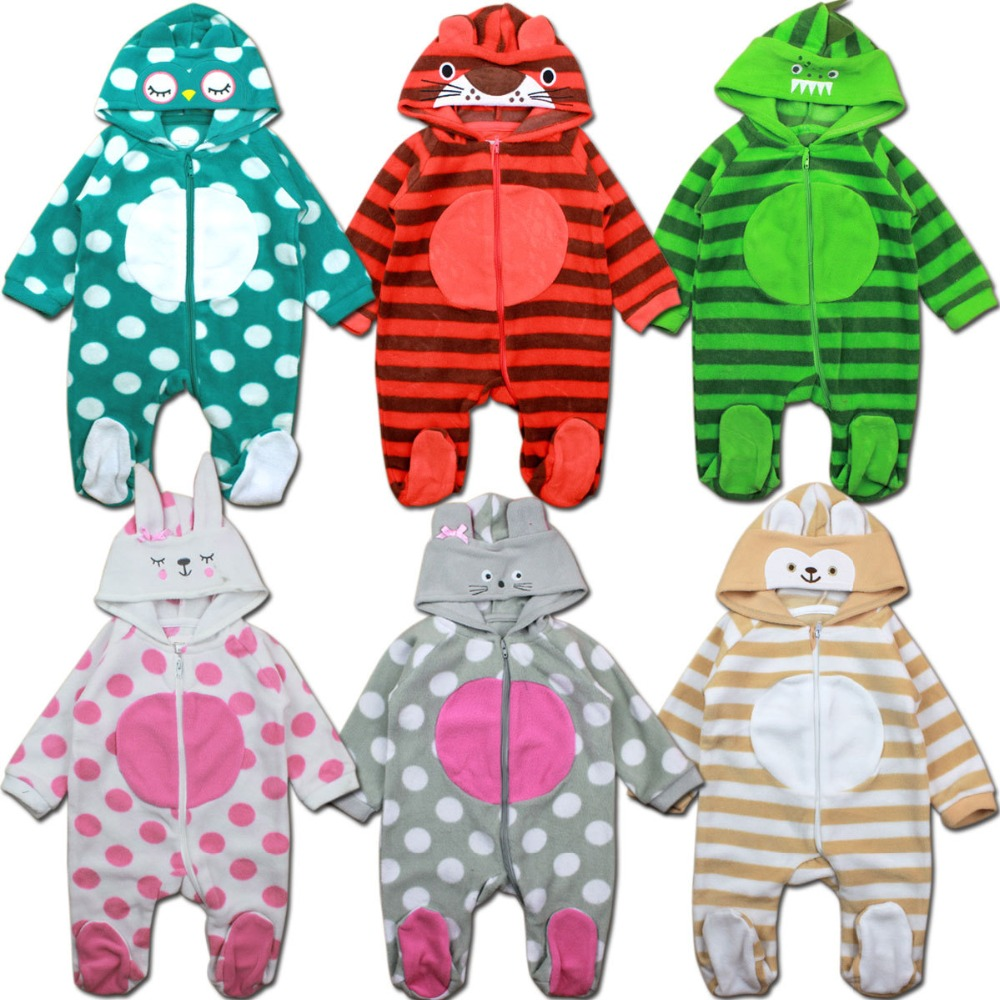 Newborn Autumn Winter Jumpsuit Baby Clothes Cartoon Romper Boy and Girl Costume Fleece Clothes bebes Long Sleeved Rompers newborn winter cartoon car baby rompers infant soft cotton thick baby boy girl jumpsuit long sleeve fleece ropa bebes costume