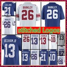 26 Saquon Barkley jersey 13 Odell Beckham Jr 10 Eli Manning 21 Landon  Collins stitched Logos jerseys 7d3b4081f