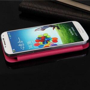 Image 5 - Cuoio Della Copertura di vibrazione della Cassa Del Telefono Per Samsung Galaxy S4 S 4 SIV 9500 GalaxyS4 GT I9500 I9505 GT I9500 GT I9505 Smart visualizza Originale