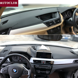 Dla BMW X1 X2 E84 F48 2009-2019 skóra Dashmat pokrywa deski rozdzielczej Pad desce rozdzielczej mata parasol przeciwsłoneczny 2010 2011 2012 2013 2014 2015 2016 2017