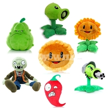 7Pcs PVZ Zombies and Plants Group Soft Sunflower Pillow Plush Toy Doll Game Figure Statue Baby Toy for Children Gifts