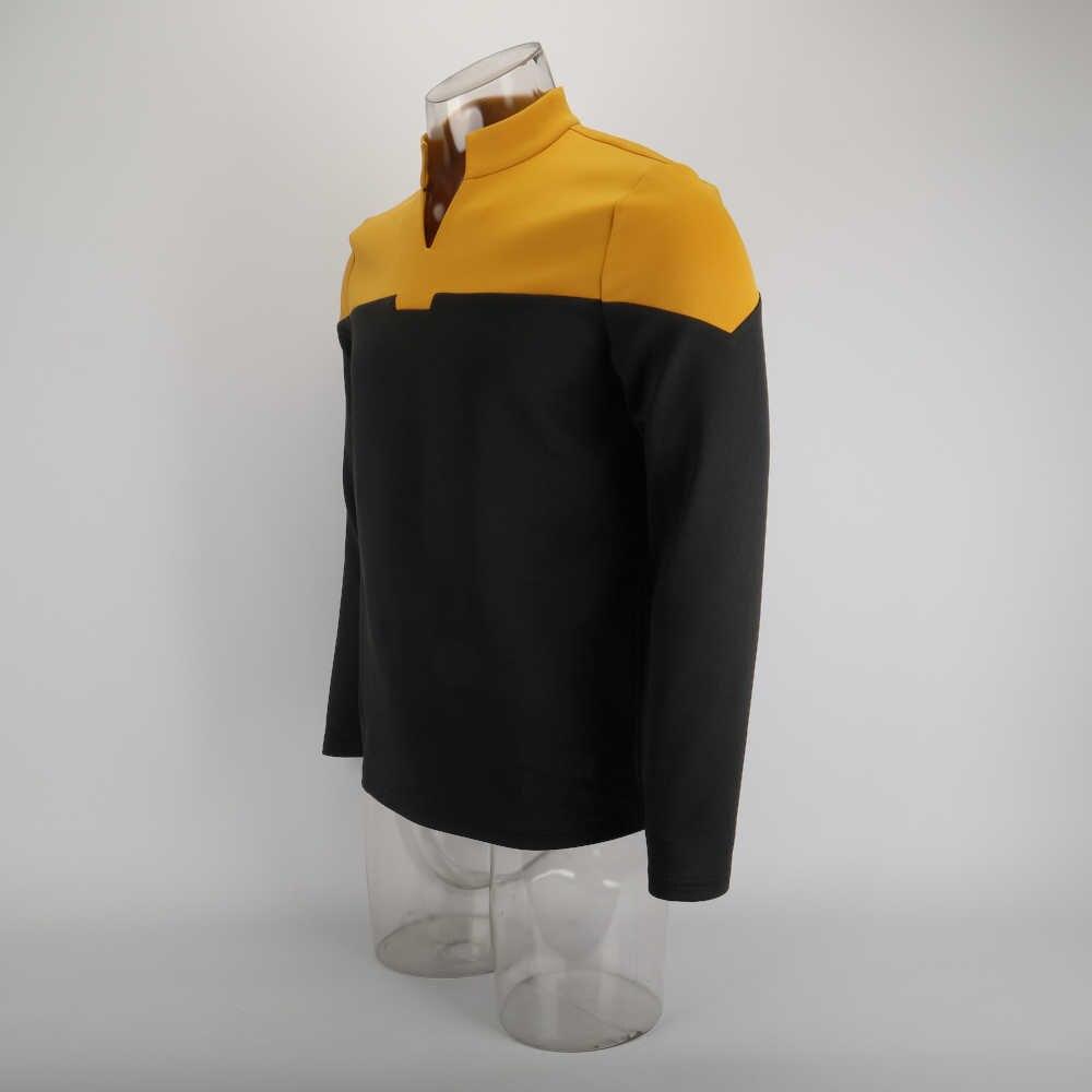 コスプレ 2019 スターピカード Startfleet 制服トレック新エンジニアリングゴールドトップシャツ ST 衣装ハロウィンパーティー