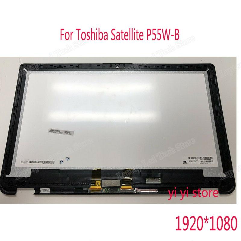 Pour Toshiba Satellite Radius série P55W-B écran LCD complet écran tactile verre numériseur assemblée + lunette