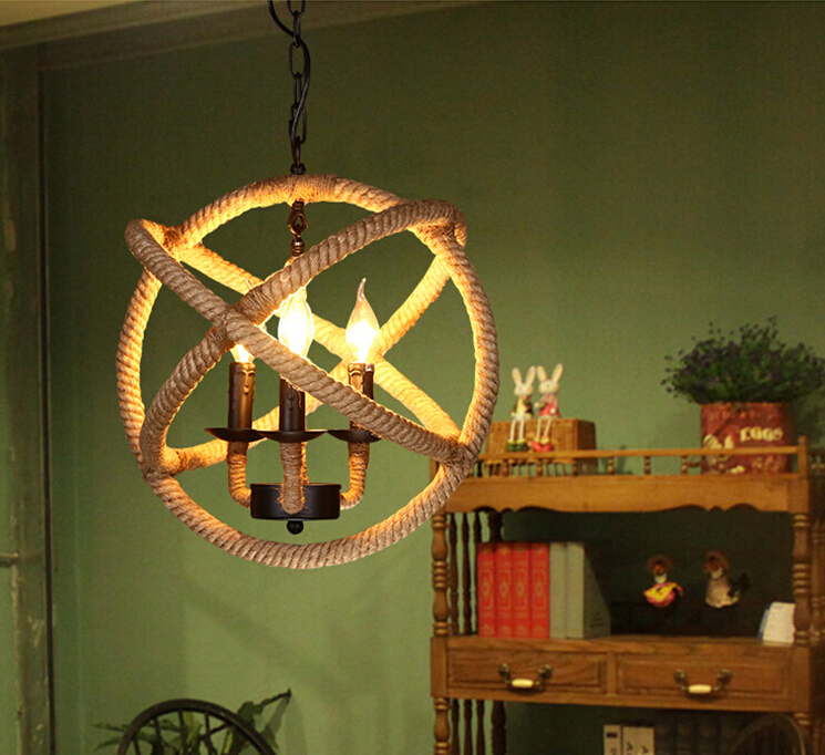 Rope Orb Chandelier Rustic Lighting Industrial Ceiling Fixture Sphere Pendant In Lights From On Aliexpress Com Alibaba Group