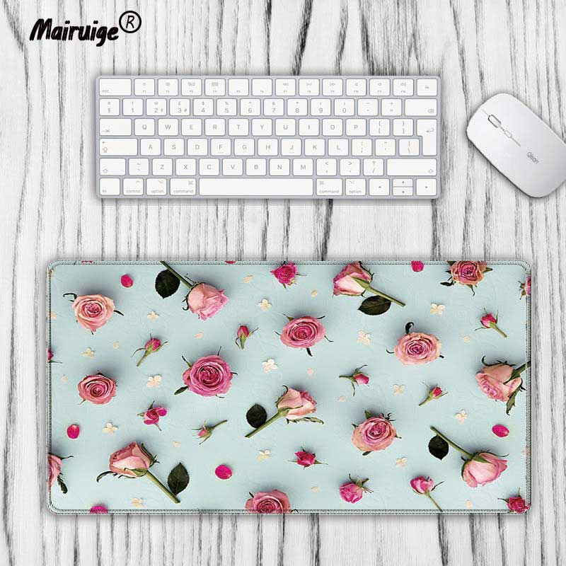 Mouse Pads Back To Search Resultscomputer & Office Candid Mairuige Pink Rose Pc Computer Game Keyboard Large Size Mouse Pad Rubber Anti-slip Waterproof Mouse Track Speed Version 40x90cm Good Heat Preservation