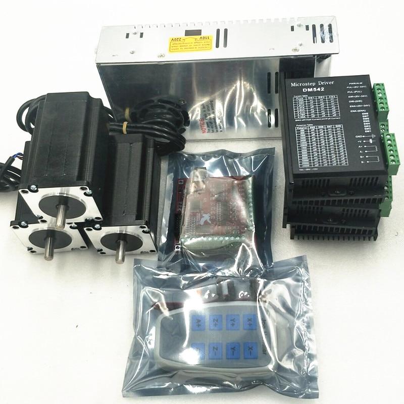 CNC MACH3 USB 4 Eixos 100 KHz USBCNC Stepper Movimento Suave bordo de fuga do cartão controlador Nema 23 Stepper Motor Driver DM542 kit