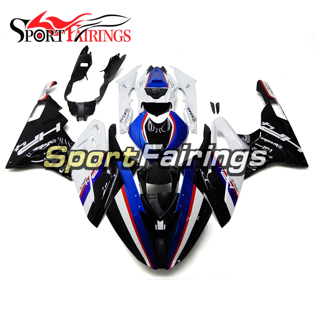 Injection Racing Full Fairings For BMW S1000RR 15 16 2015 2016 ABS Plastic Motorcycle Fairing Body Kits Black White Cowlings unpainted white injection molding bodywork fairing for honda vfr 1200 2012 [ck1051]