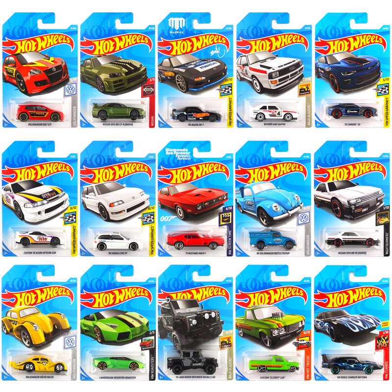 72PCS Original Hot Wheels Style 1:64 Metal Mini Model Car Kids Toys for Children Diecast Brinquedos Fast&Furious Birthday Gift