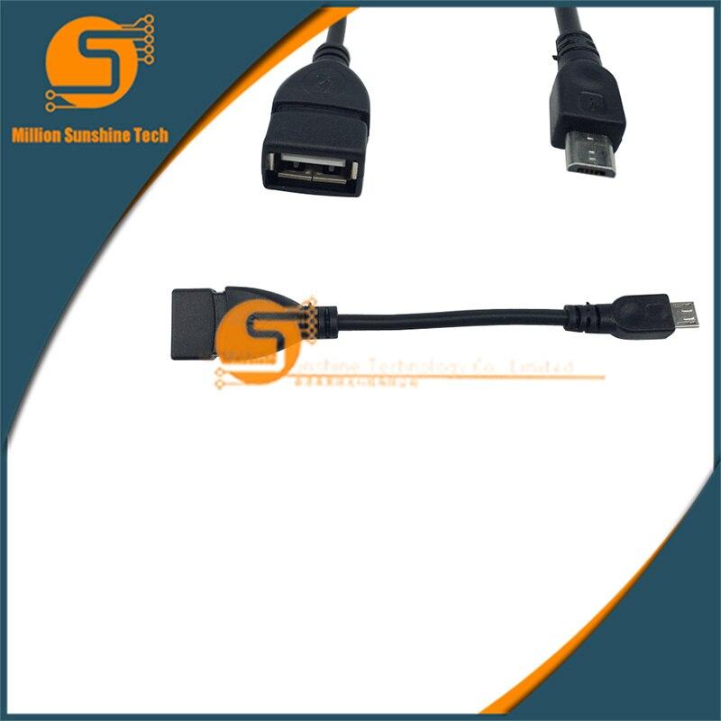 Raspberry Pie zero/w OTG line USB FEMAIL turn micro switch connection computer external u disk line
