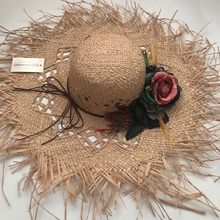 Fashion New Floral straw hat bow wide ashgrass female Sun cap beach visor outdoor holiday beach sun protection hat Collapsible