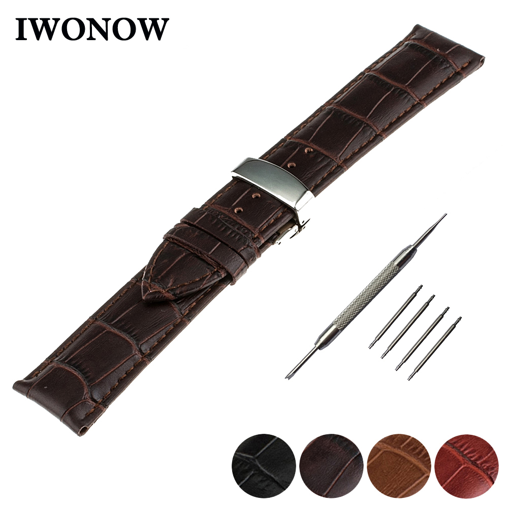 Genuine Leather Watch Band 16mm 18mm 20mm 22mm for Timex Wee