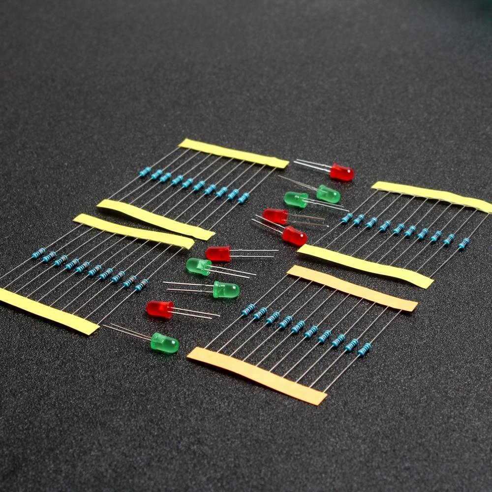Kit de resistencia para Arduino Raspberry Pi, 1/4W, 220 OHM, 1K, 10K, 100K
