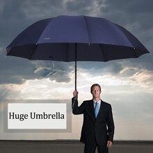 152 СМ Топ-качество Зонтик Мужчины Дождь Женщина Ветрозащитный Большой Paraguas Мужчины Женщины Вс 3 floding Большой Открытый Зонтик Parapluie