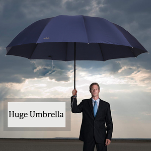 Image 2 - 152CM Top quality Umbrella Men Rain Woman Windproof Large Paraguas Women Sun 3 floding Big Family Umbrella Outdoor Parapluie