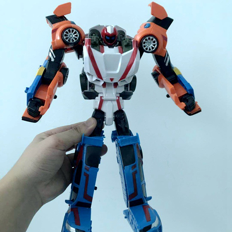 33CM Tobot 3 In 1 Robot Transformation Cars Action Figure Toys Anime Tobot 3 Cars Merge Deformation Robot Model Toys