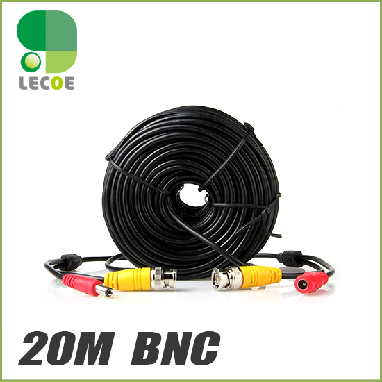20m/ 65ft BNC Video Power Cable DVR Surveillance CCTV Security Camera Wire