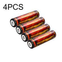 4pcs/lot TrustFire 18650 li-ion Golden Protected Battery 3.7V 3000mAh Lithium Rechargeable Batteries For Flashlight Torch high trustfire protected 18650 3 7v 3000mah rechargeable li ion batteries pair