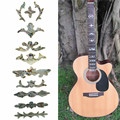 Brautiful Design PET 15.7x5.1cm Guitar Bass Inlay Sticker Fretboard Marker Decal Decorate Mixed Pattern Fret Marker