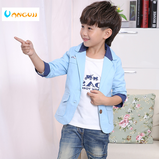 6978ded7f boys Leisure Suit children s blazer 3 11 year old Hit color Spring ...