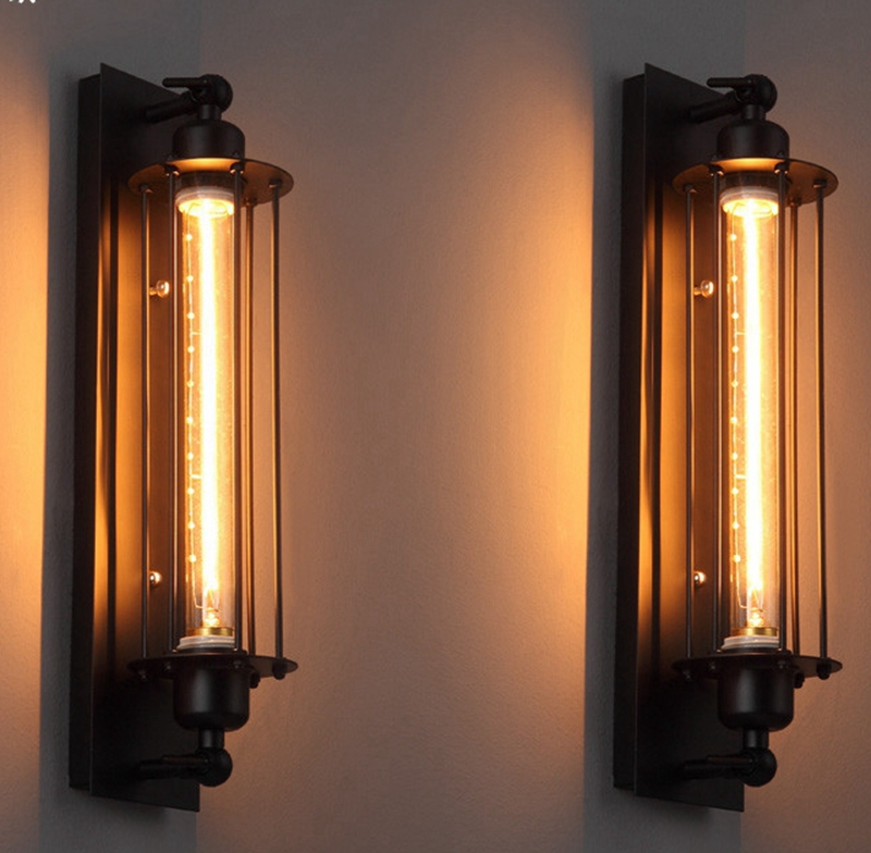 Loft Vintage Wall Lamps American Industrial Wall Light Edison Light 40W E27 Bedside Wall Fixtures Home Decoration Lighting hot sale 6 cell kitchen tools diy frozen popsicle molds tray round shape ice cream mould