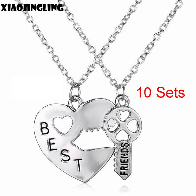 detail heart buy lock pendant best product friend necklace charm set key teen and