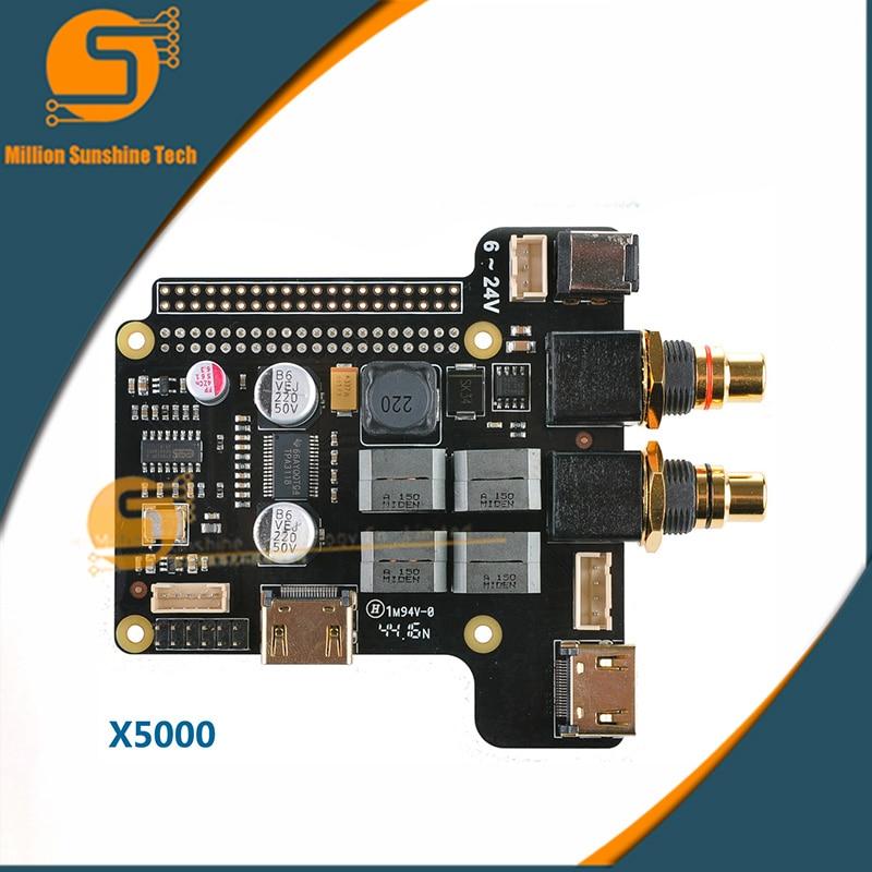 X5000 ESS Sabre Expansion Board For Raspberry Pi 3 Model B / 2B / B+