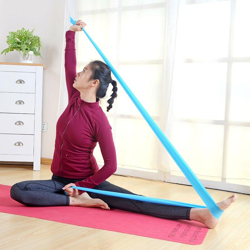 Yoga-Ausdehnungs-Eignungs-Widerstand-Bänder Pilates, das Latexband - Fitness und Bodybuilding - Foto 4
