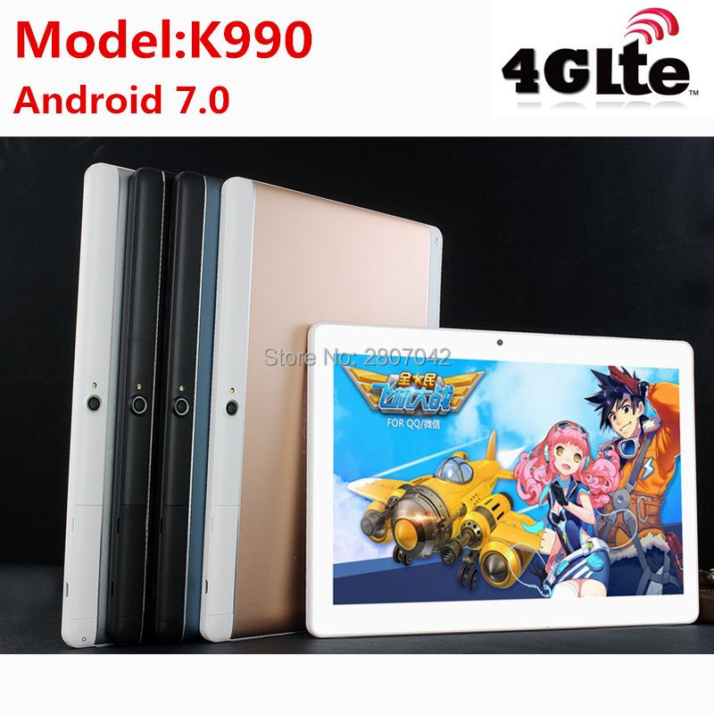 2018 newest 10.1 inch tablet pc Android 7.0 RAM 4GB ROM 64GB Dual SIM Bluetooth GPS 1920*1200 IPS tablets pcs free shipping