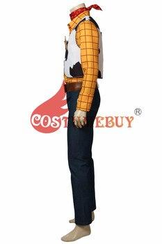 Disfraz de Cosplay de Toy Story de CostumeBuy, disfraz de Woody Cowboy, traje de carnaval, disfraz de superhéroe para hombre adulto, fiesta de Halloween, hecho a medida