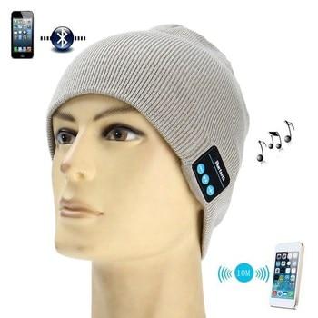 10 meter Wireless Bluetooth Hat Music Soft Beanies Winter Hats Stereo Headphone Headset Speaker Wireless Warm Beanie Ski cap