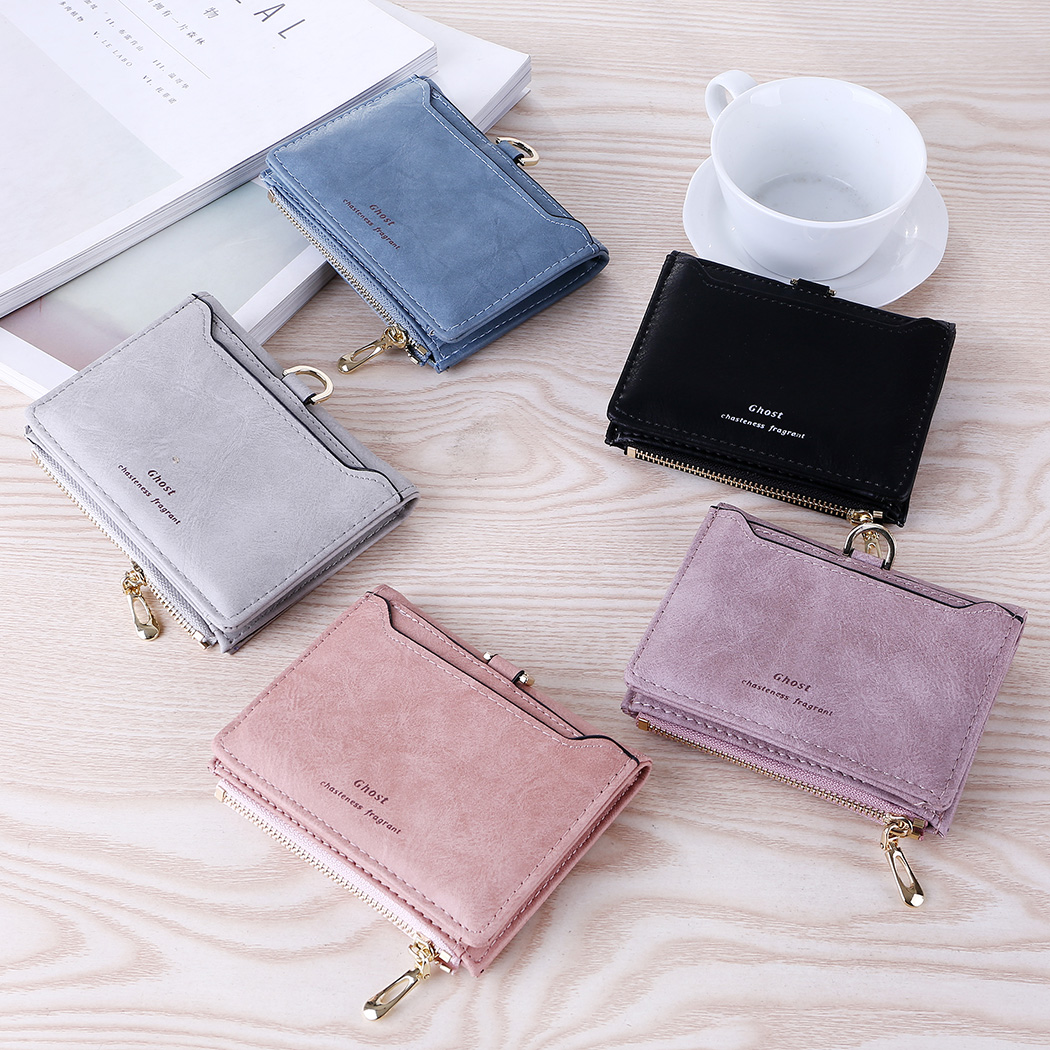 Wallet Female Matte Leather Women Wallet Zipper Short Clutch Women Purse Female Mini Coin Short Purse Card Holder цены