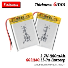 603040 37V lithium polymer rechargeable battery 800mAh 063040 For GPS navigator MP3 MP4 MP5 Power Bank Bluetooth speaker Toys