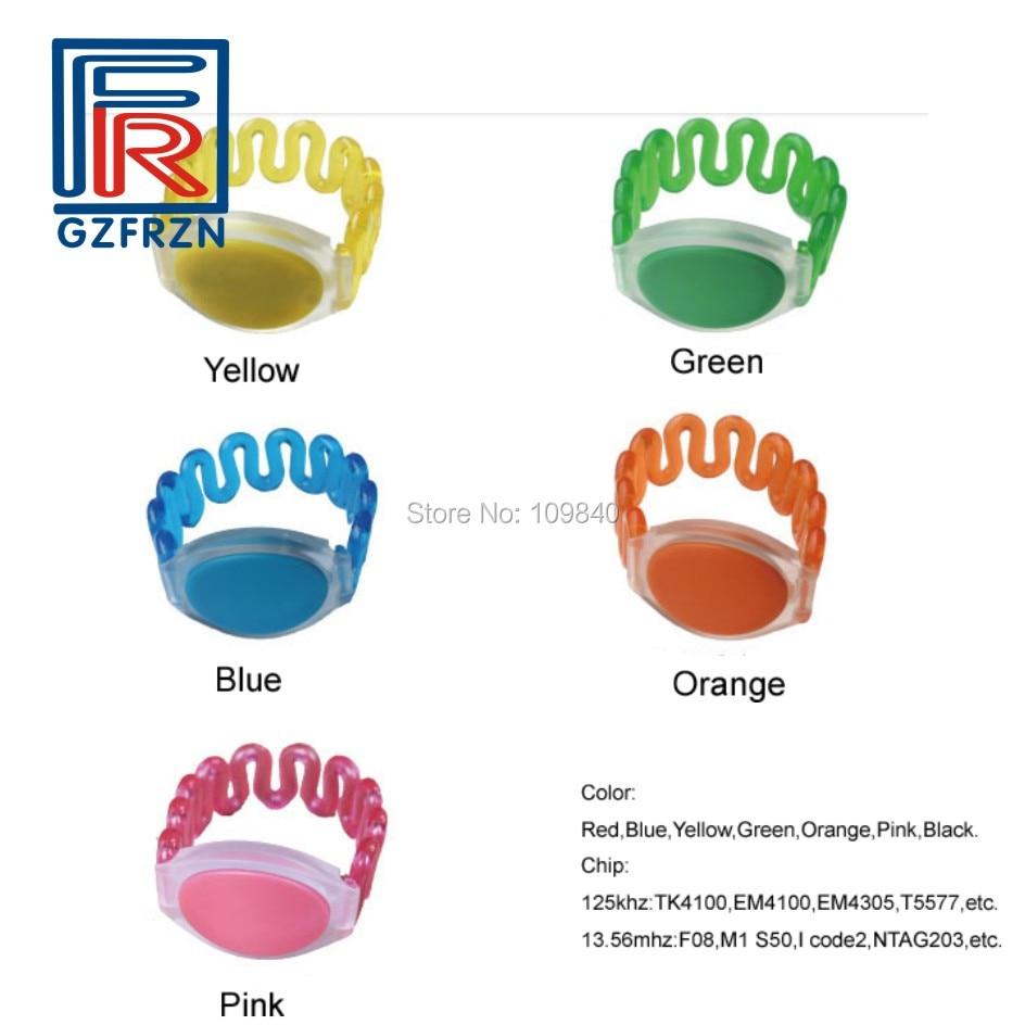 High Quality 125khz EM4100 TK4100 Wristband RFID Bracelet ID Cards Sauna Watch Card For Swimming Pool SPA