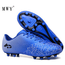 MWY Men Soft Breathable  Football Boots Outdoor Turf Soccer Cleats Professional Training Sport Sneakers Zapatillas Futbol