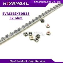 20pcs Trimming resistance 3k ohm 3*3 EVM3ESX50B33 smd Adjustable resistance 3×3 adjustable SMD Potentiometer Resistance
