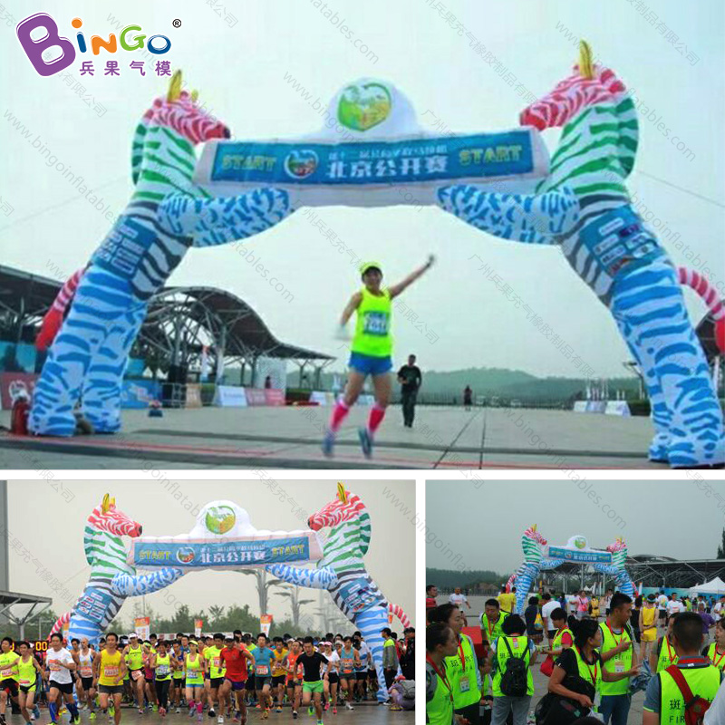 b8ca6cf6d Free shipping 8X6m inflatable race arch start finish line with zebra animal  lovely zebra entrance for zoo decoration toy arch