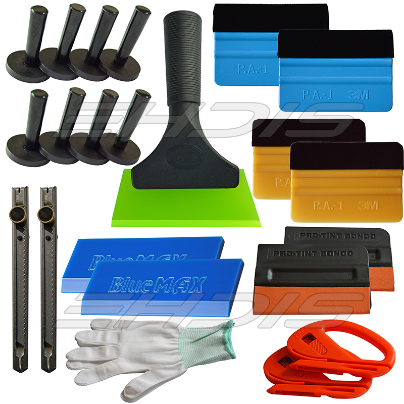 22 IN 1 Professional Tint font b Tool b font 3M Felt Squeegee Vinyl Cutter Rubber