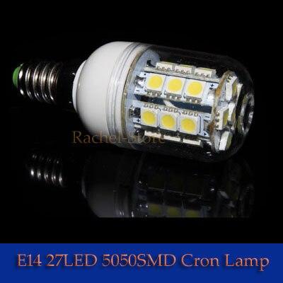 1No Flashing 5W 27PCS 5050 LED E27 Corn Light Bulb Lamp 400LM Warm White Cool White 10W 48LED 5050