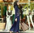 Chilaba Turco Turco Abaya Abaya Nueva Llegada Adultos Poliéster Mujeres Musulmanas Vestido de Imágenes 2016 de Las Mujeres de Impresión de Manga Larga