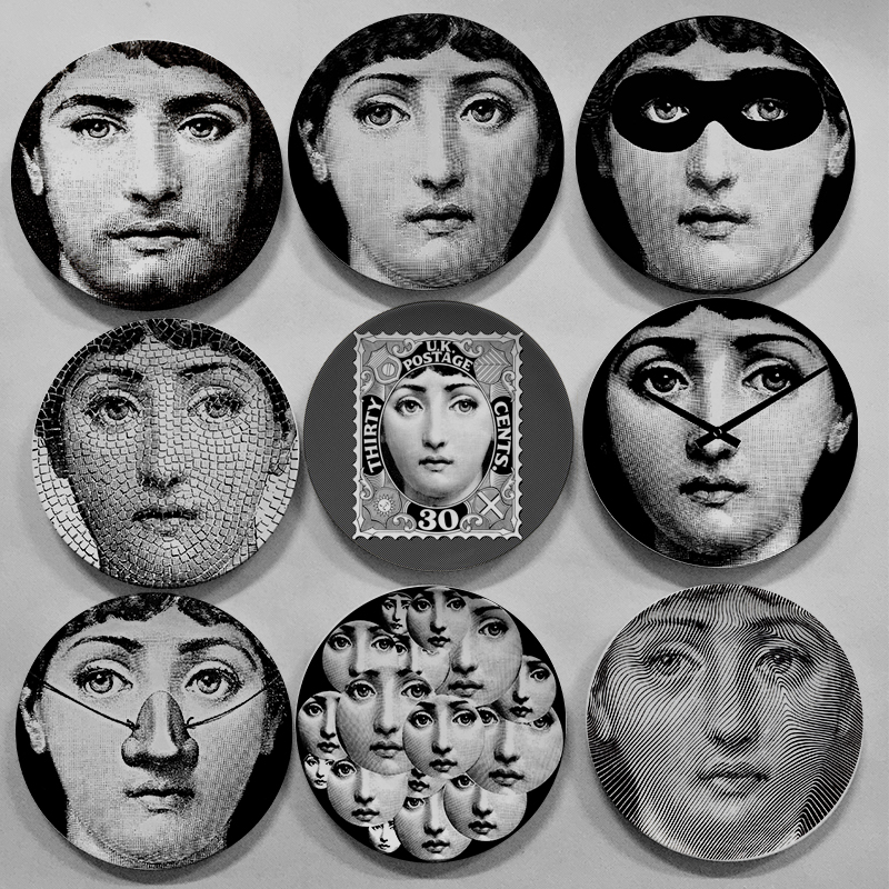 Decorative Face Plates Glamorous Fashion Style Italy Designer Fornasetti Decorative Hanging Plates Design Ideas  sc 1 st  Wall Plate DESIGN IDEAS & Decorative Face Plates Stunning Theme And Variations Whisper Black ...