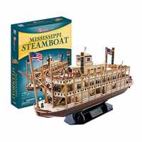 142pcs Jimusuhutu Steamboat 3D Paper Boat Model Kits Toy 1:100 Wooden Ship Puzzles Assembly Kit Children's Day Gift