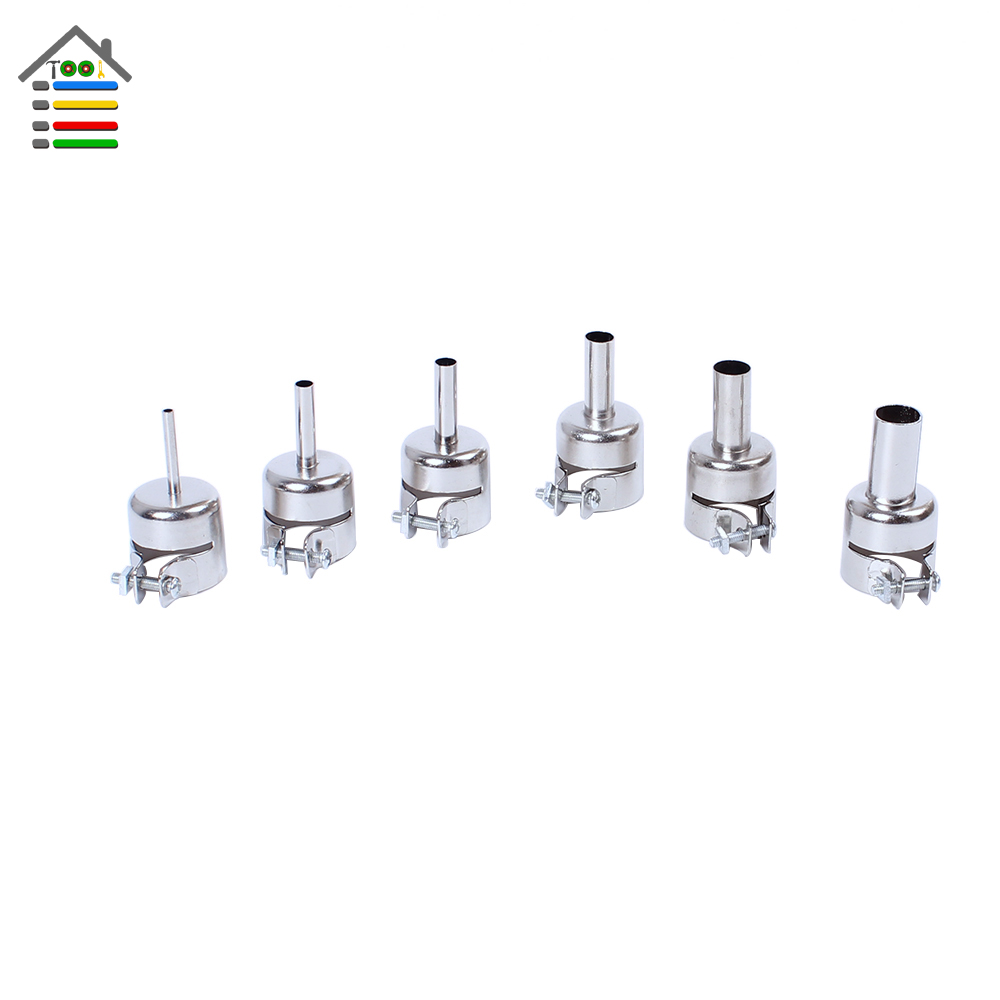 New 6pc Nozzle Tips For 850 852D 898 858 BGA Soldering Station Hot Air Gun Nozzles 6 Sizes Free shipping customized 3d photo wallpaper 3d floor painting wallpaper 3 d stereo floor tile only beautiful flowers 3d living room decoration